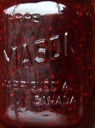 raspberry with blackberry jam - mason jar