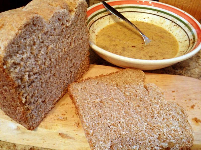 homemade bread for almond french toast