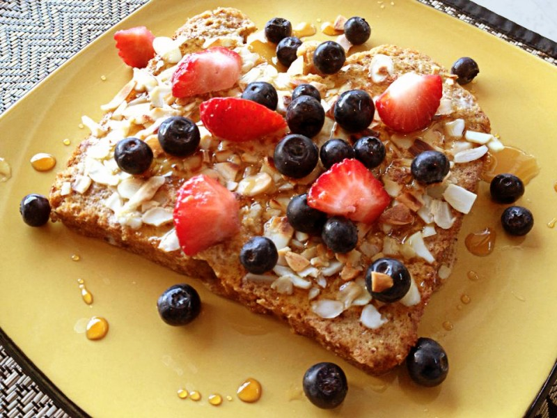 Almond French Toast with Berries