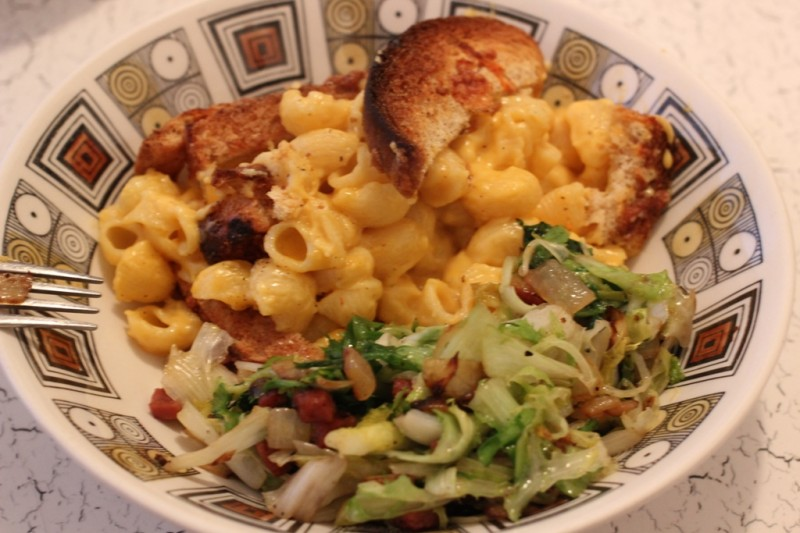 mac and cheese for dinner