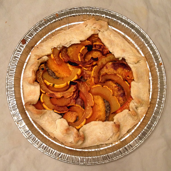 squash walnut savoury pie