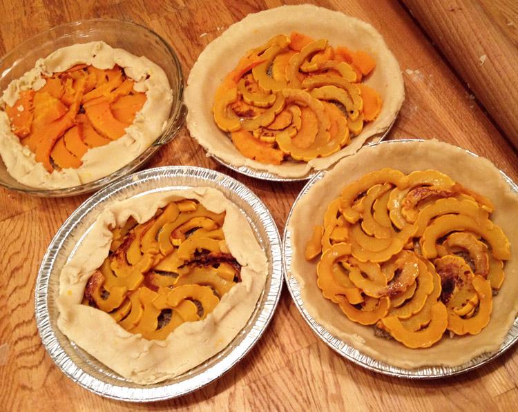 walnut parmesan sage squash pies