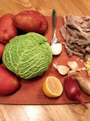 ginger cabbage potato soup recipe ingredients