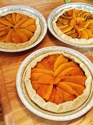 roasted squash savoury pies
